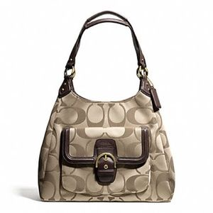 Authentic Coach Campbell Signature Hobo
